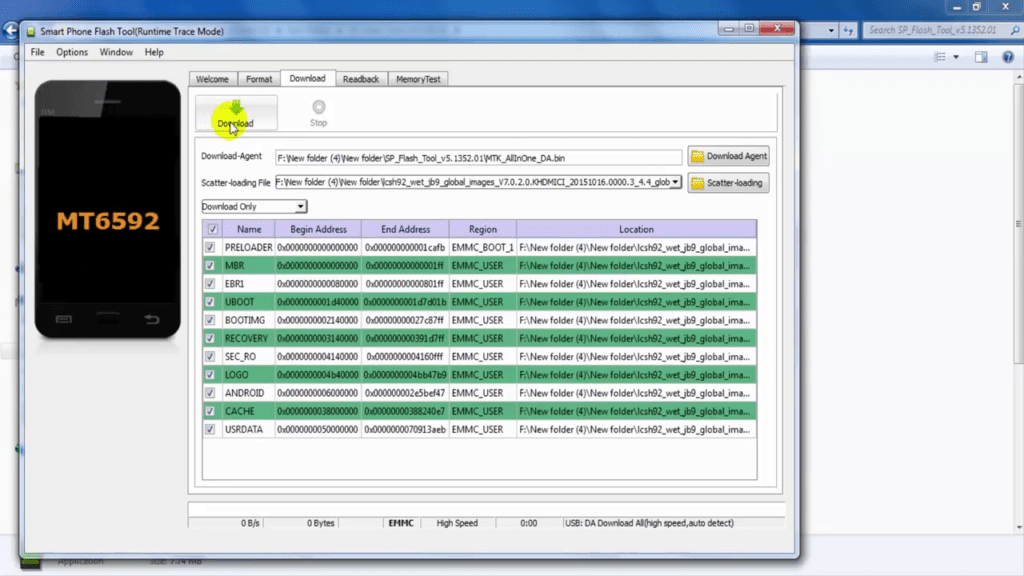 Flash Stock ROM Using SP Flash Tool