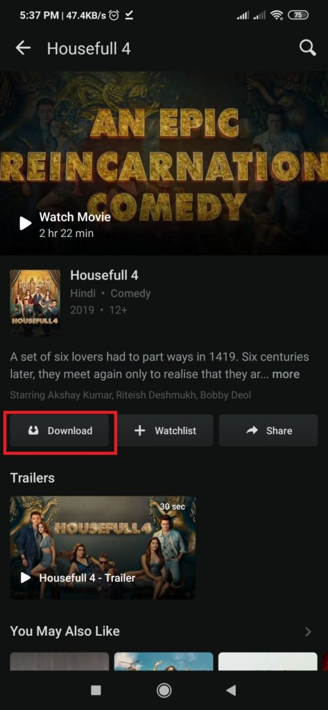 Download Hotstar videos in android