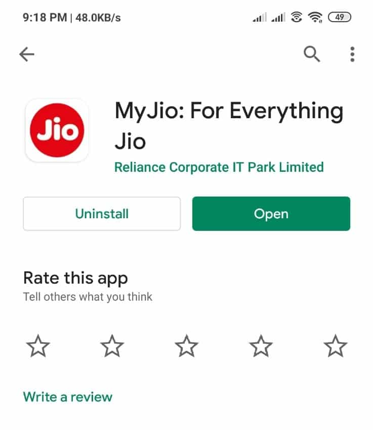 Check Jio Number using My Jio App