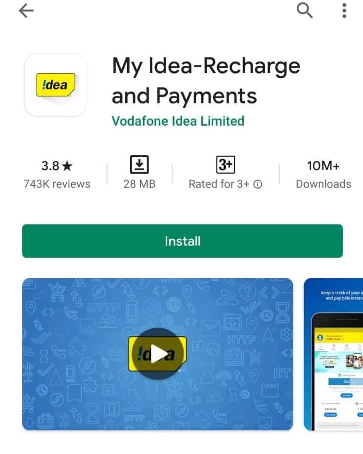 Check net balance of Idea using My Idea App