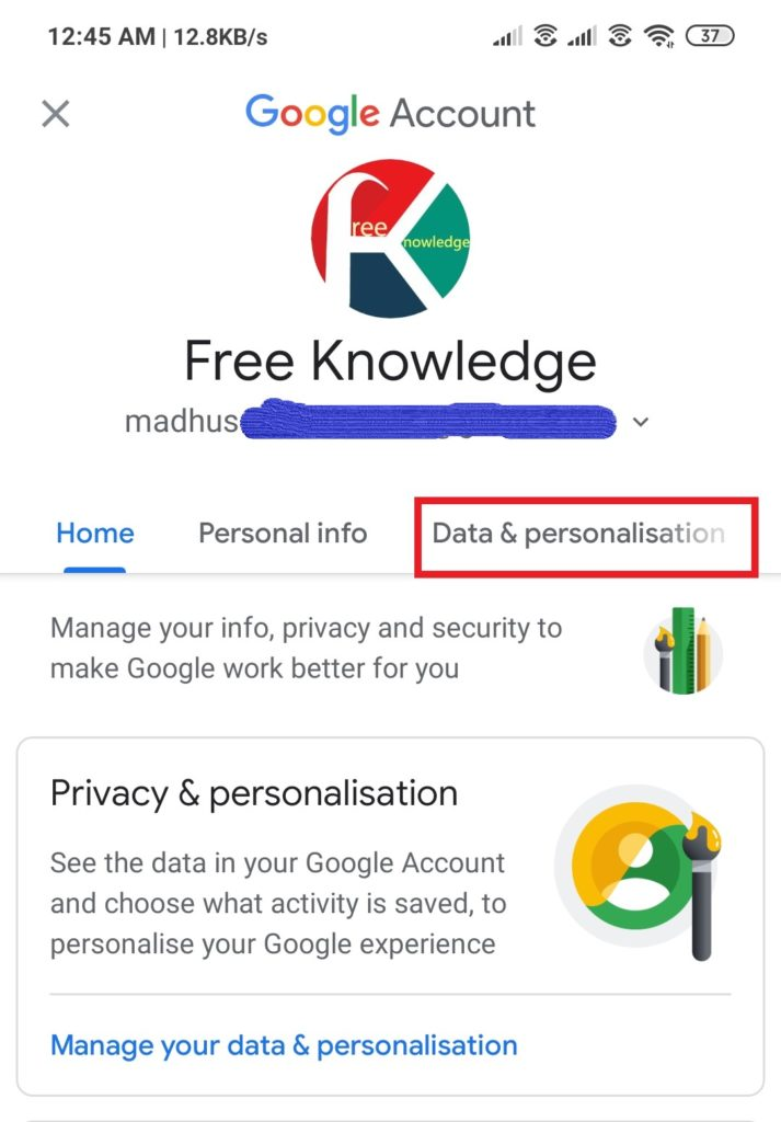 Delete Gmail Account from Android