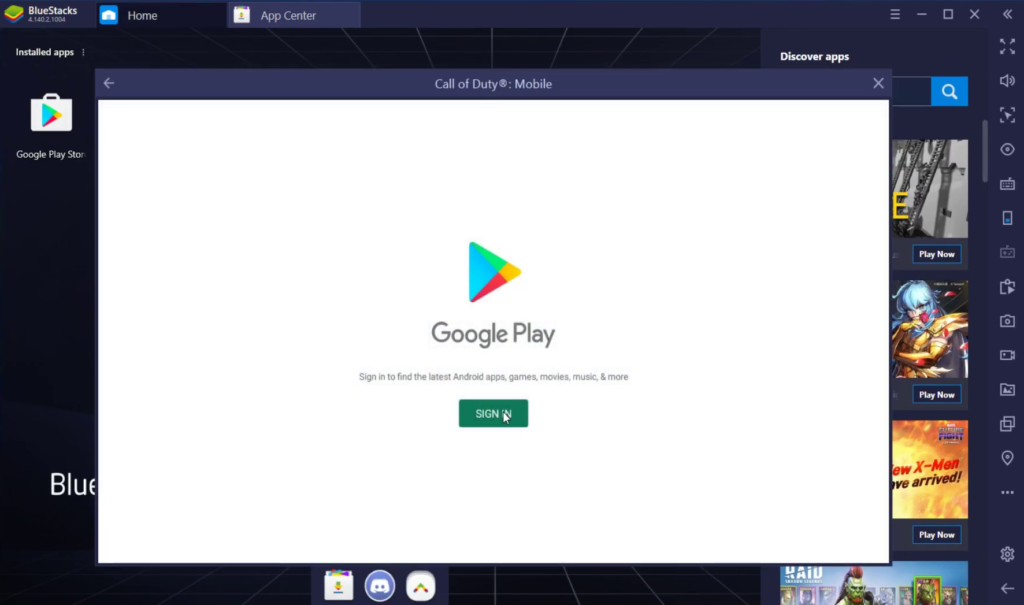 Install Call of Duty Mobile for PC using Bluestack