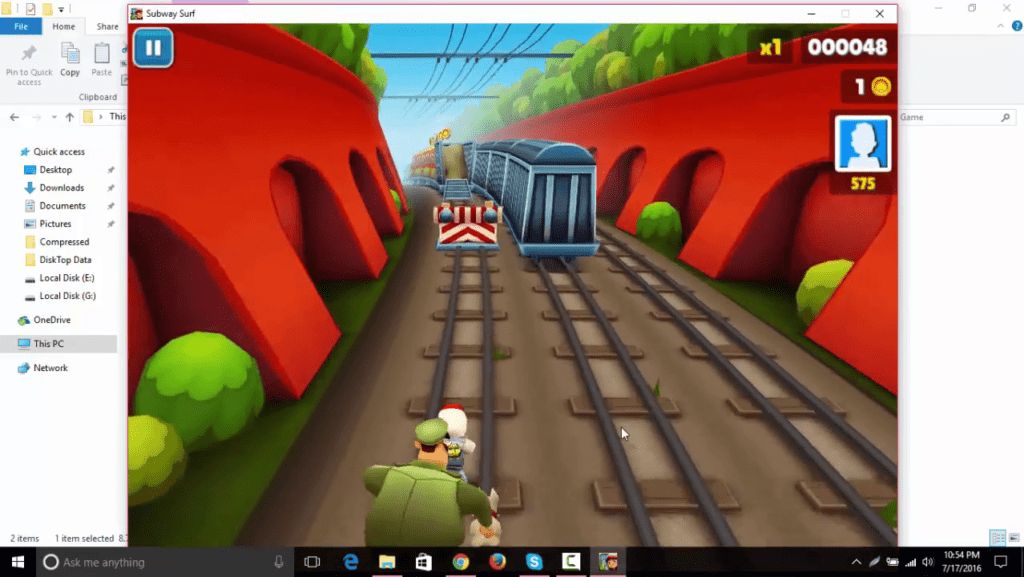 Install Subway Surfers for PC using Desktop Application