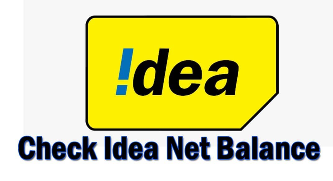 check idea net balance code ussd