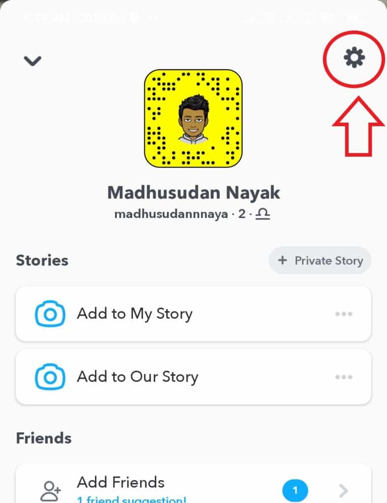 delete Snapchat Account on android and ios