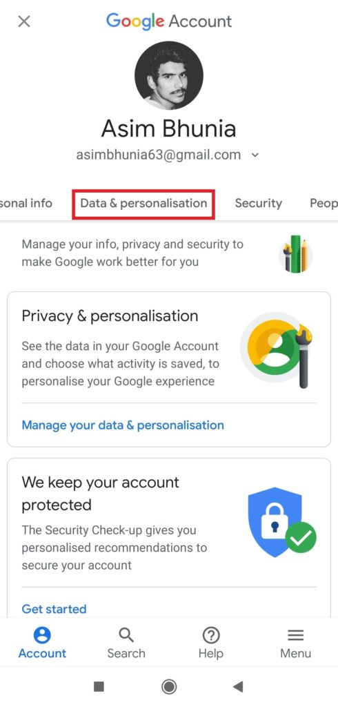 Delete Your Google Account on Android