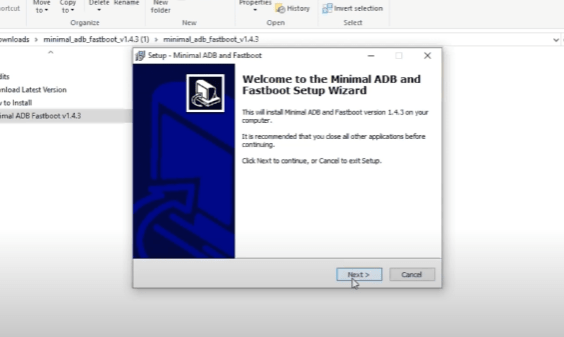 Download minimal adb and fastboot
